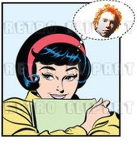 Retro pop art woman & johnny rotten